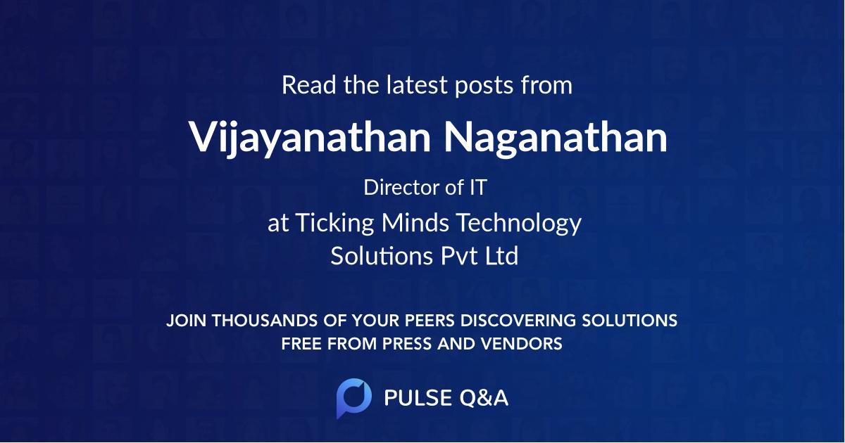 Vijayanathan Naganathan