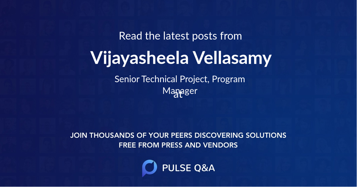Vijayasheela Vellasamy