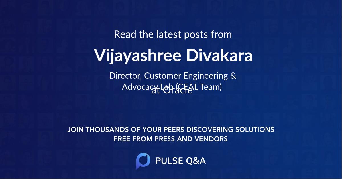 Vijayashree Divakara