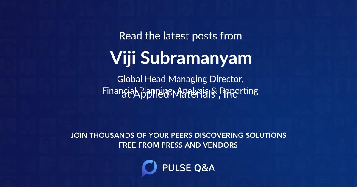 Viji Subramanyam