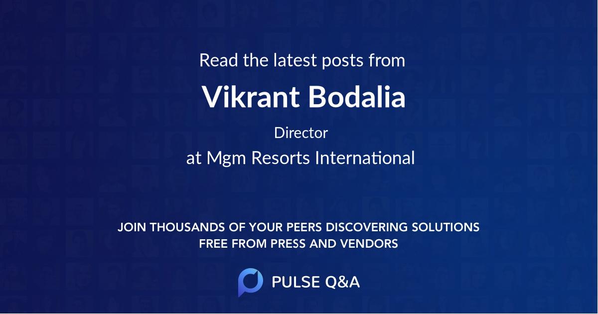 Vikrant Bodalia