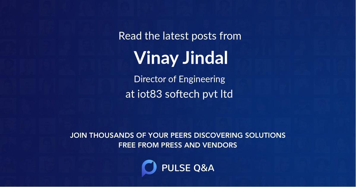 Vinay Jindal