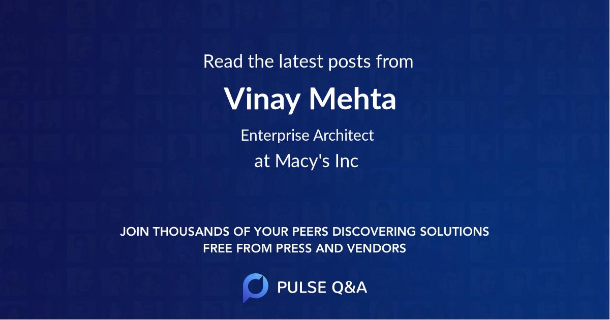 Vinay Mehta