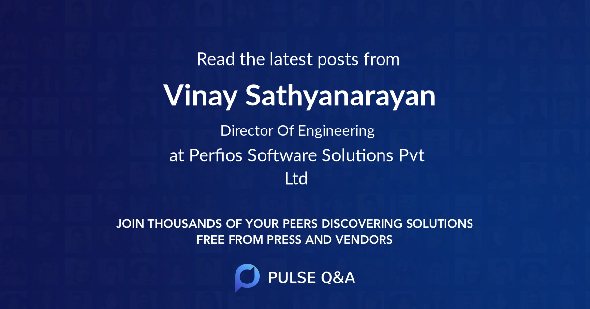 Vinay Sathyanarayan