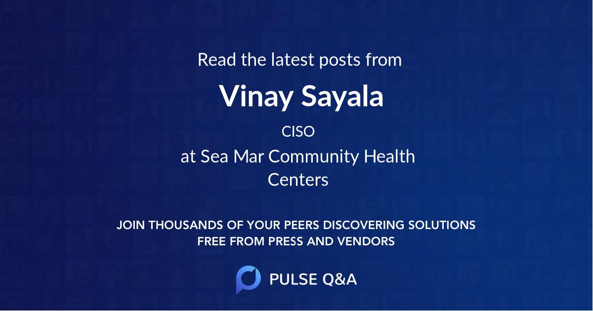 Vinay Sayala