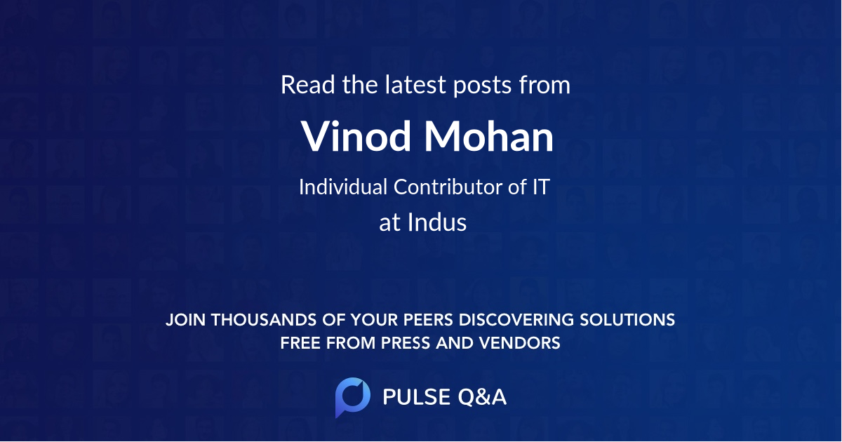 Vinod Mohan