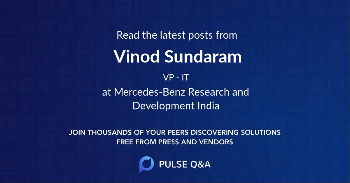 Vinod Sundaram