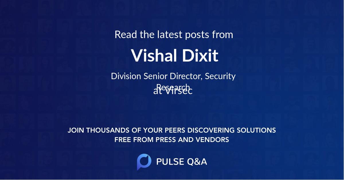 Vishal Dixit