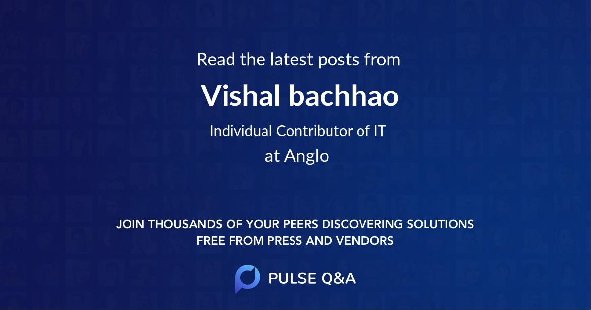 Vishal bachhao