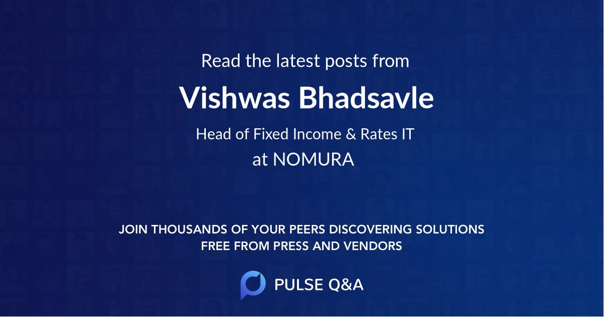 Vishwas Bhadsavle