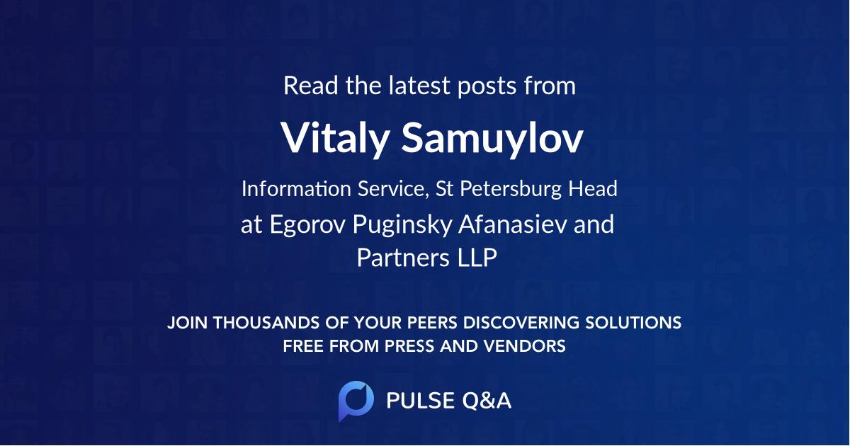 Vitaly Samuylov