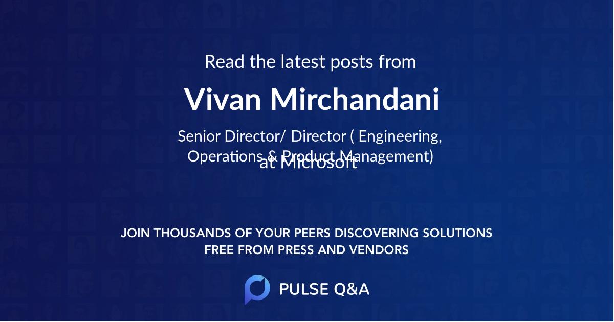 Vivan Mirchandani