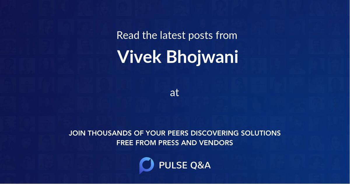 Vivek Bhojwani