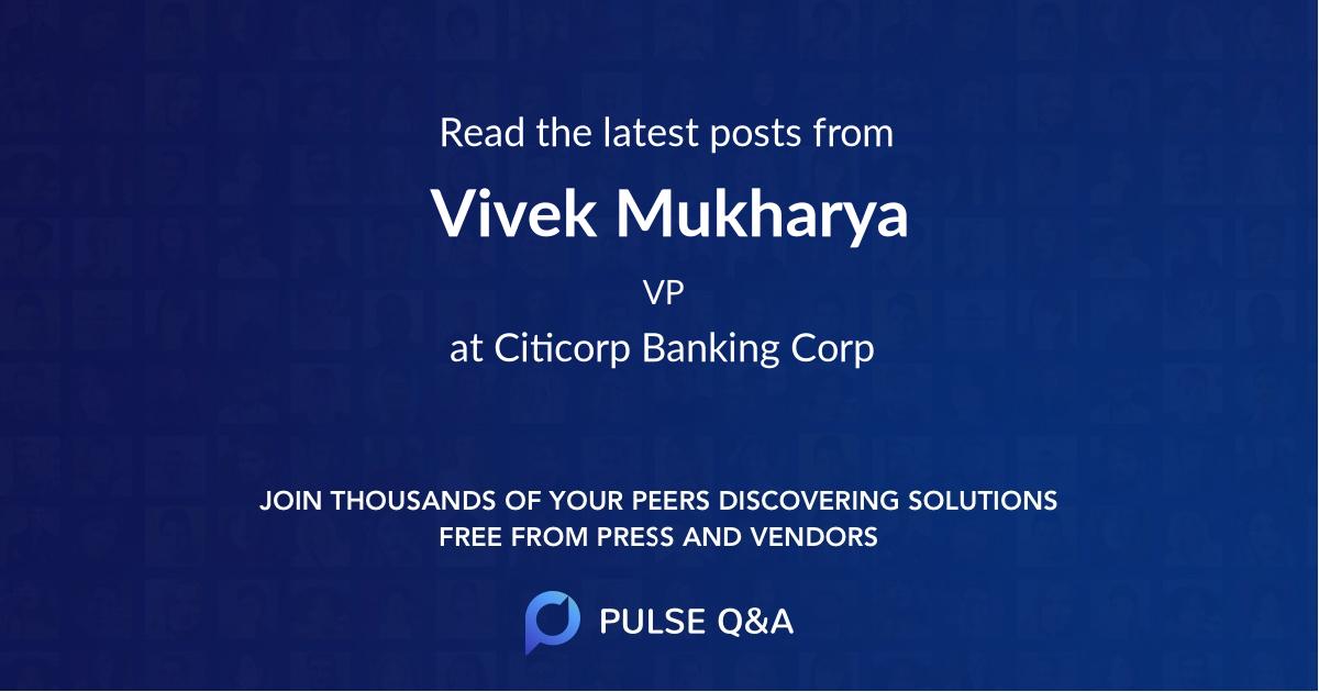 Vivek Mukharya