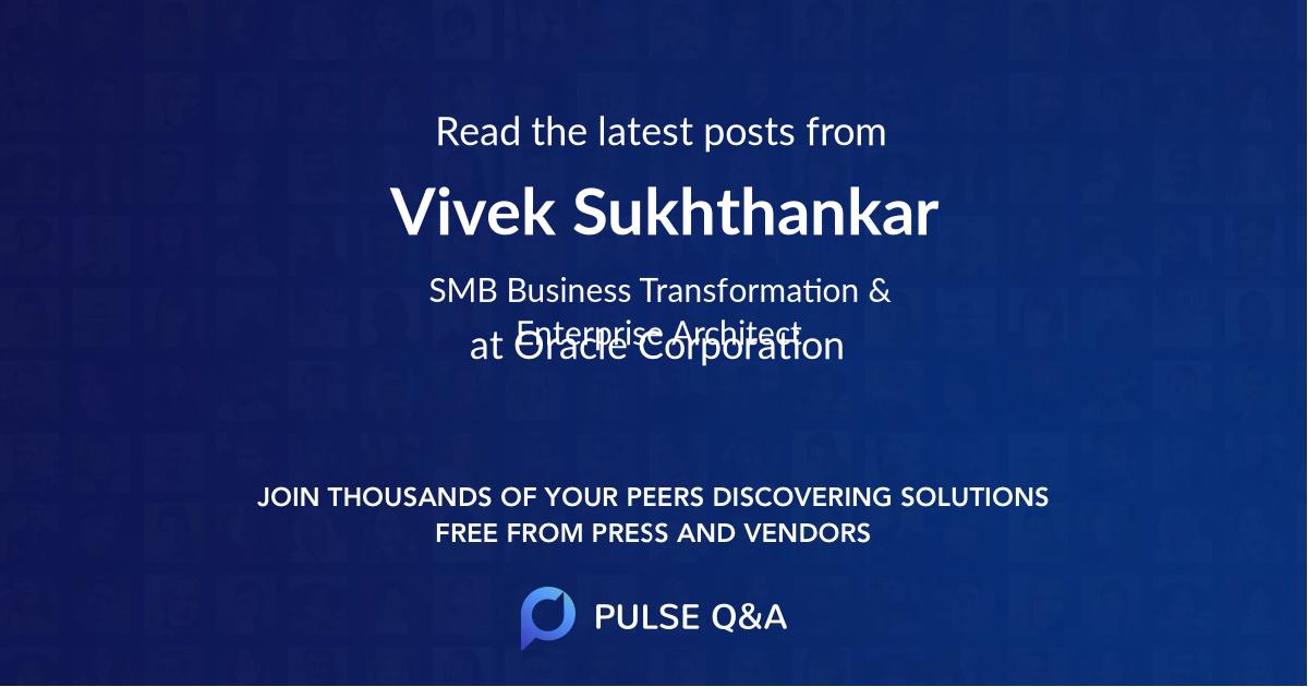Vivek Sukhthankar
