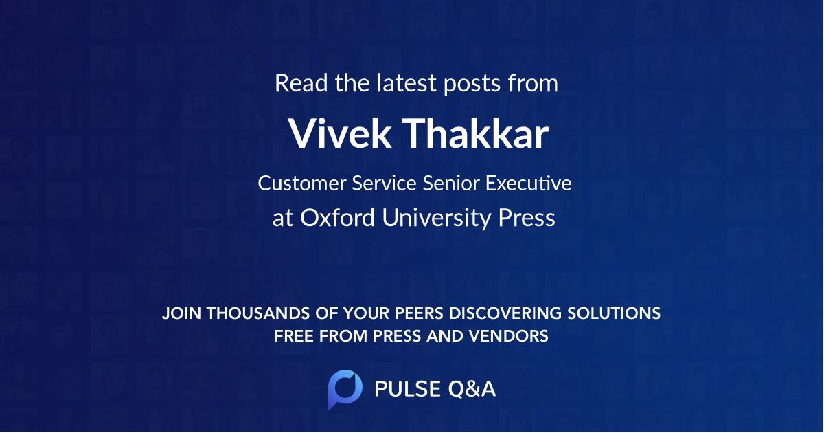 Vivek Thakkar