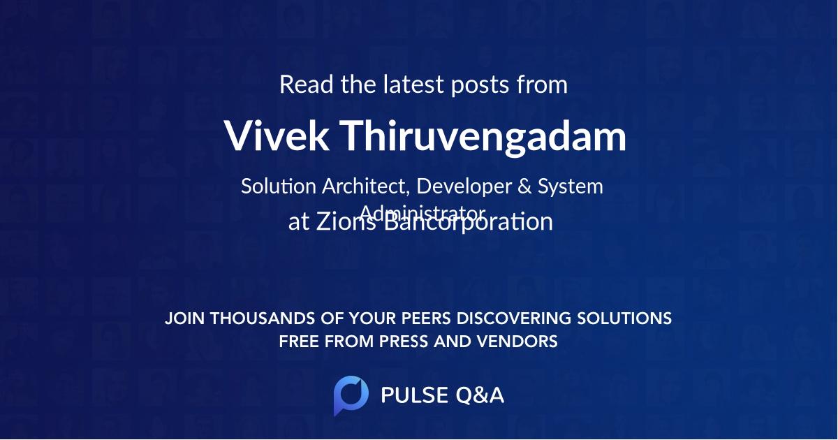 Vivek Thiruvengadam