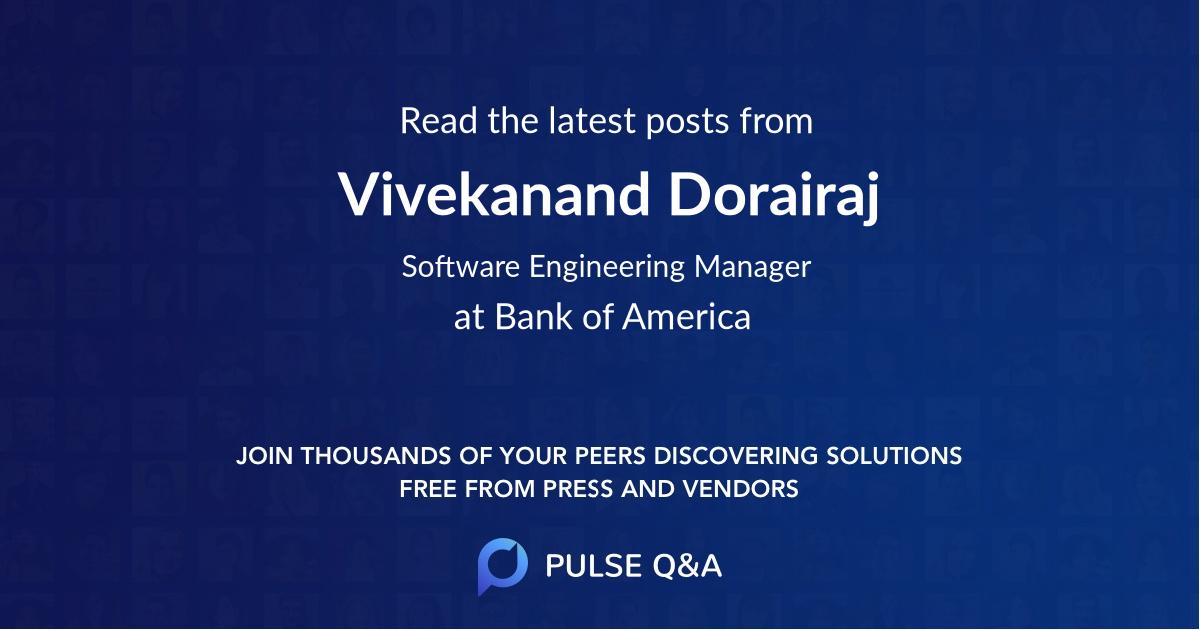 Vivekanand Dorairaj