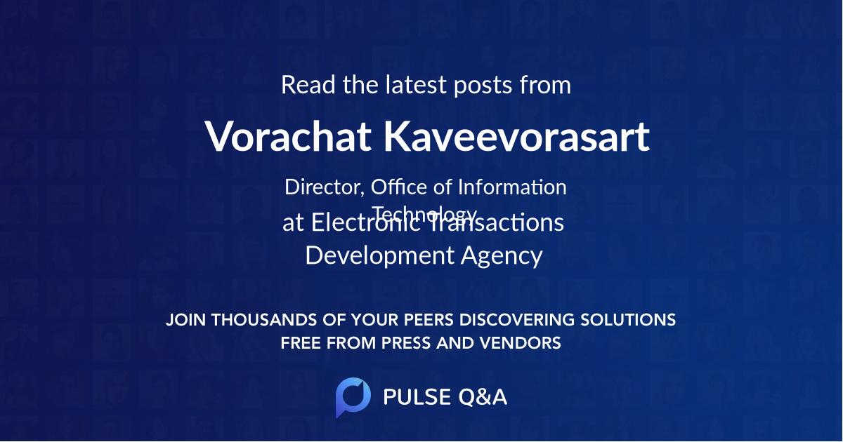 Vorachat Kaveevorasart