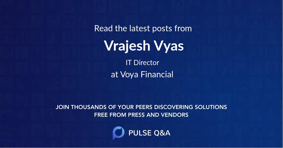 Vrajesh Vyas
