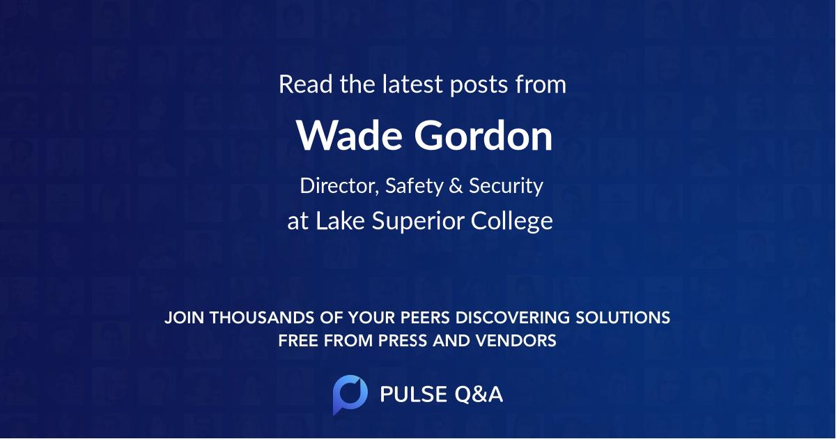 Wade Gordon