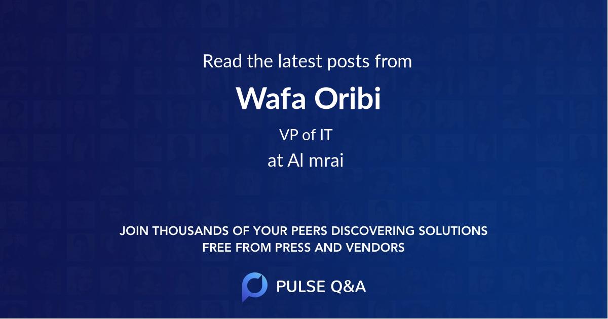 Wafa Oribi