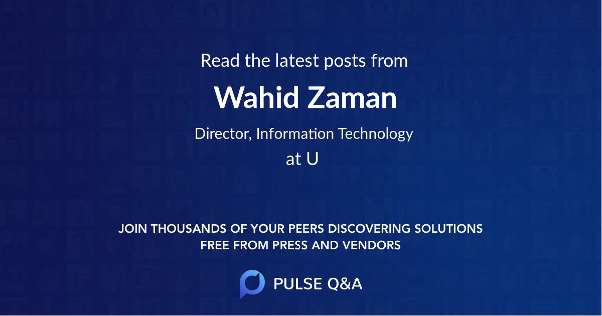 Wahid Zaman