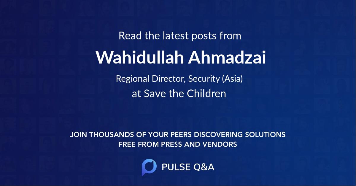 Wahidullah Ahmadzai
