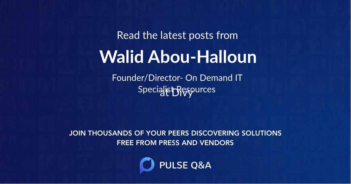Walid Abou-Halloun