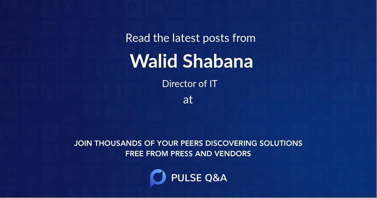 Walid Shabana