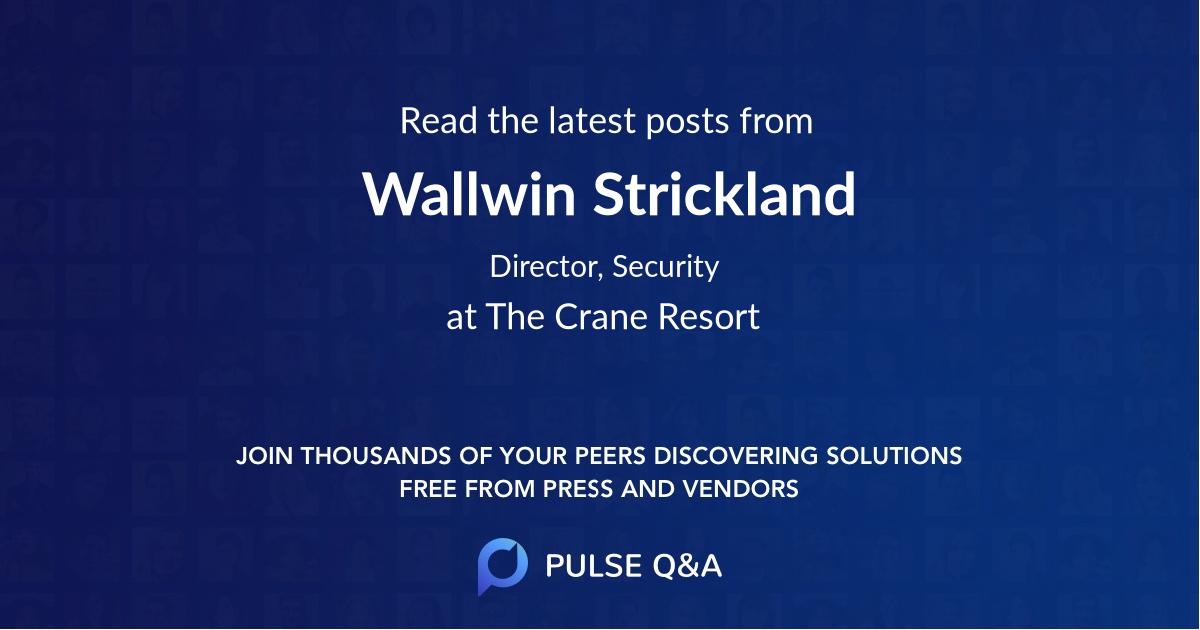 Wallwin Strickland