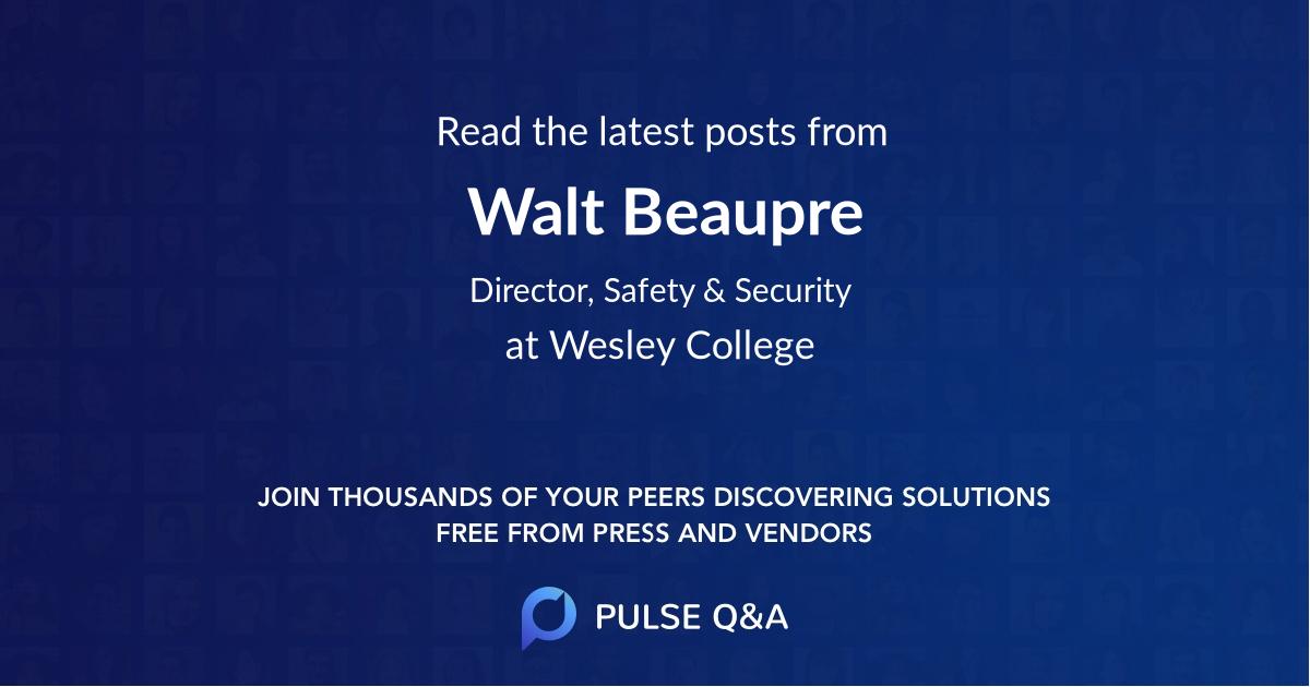 Walt Beaupre