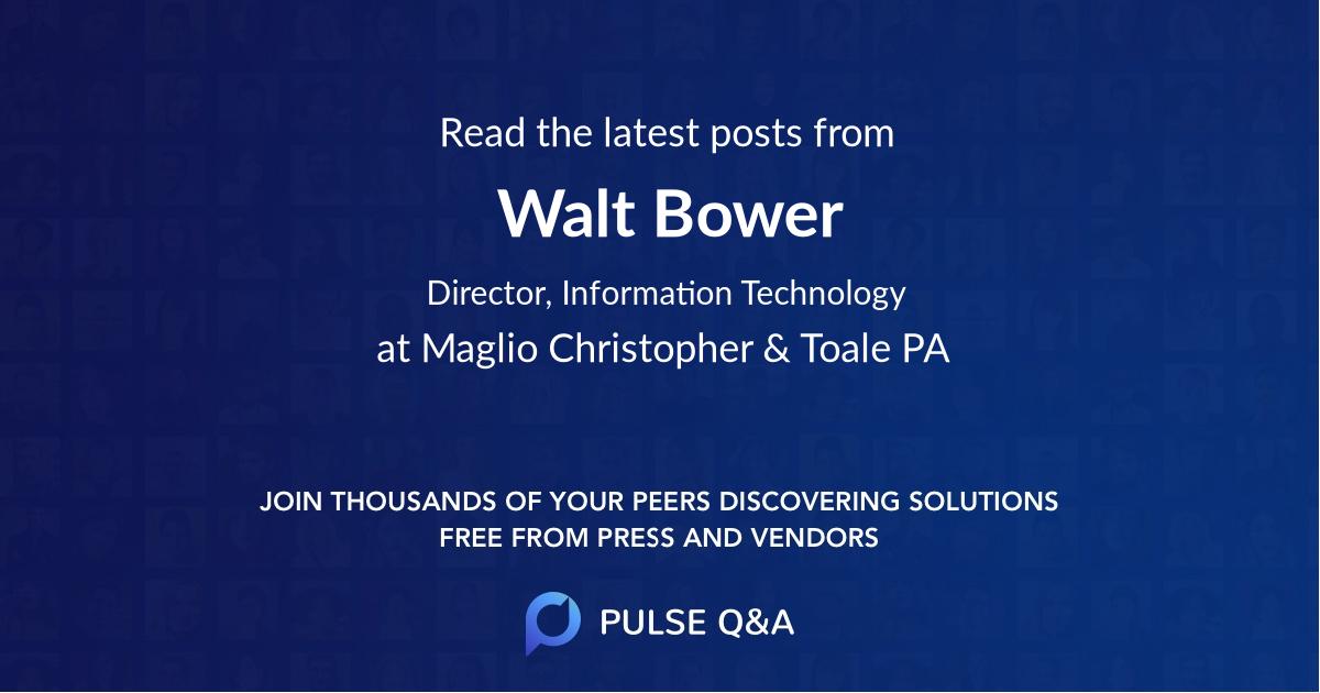 Walt Bower