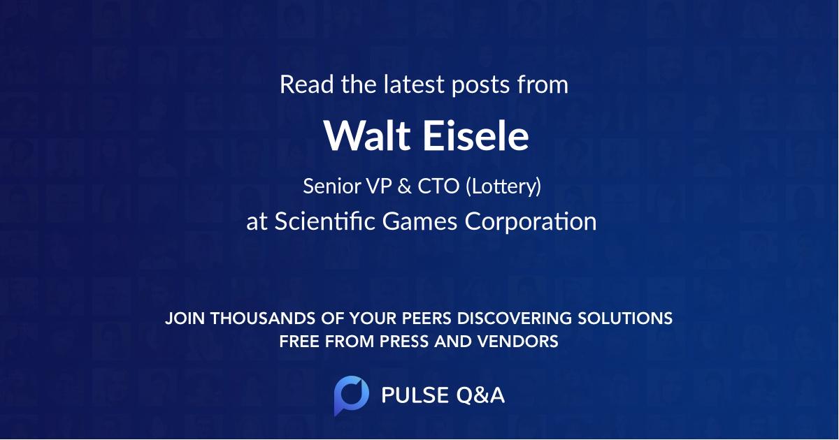 Walt Eisele