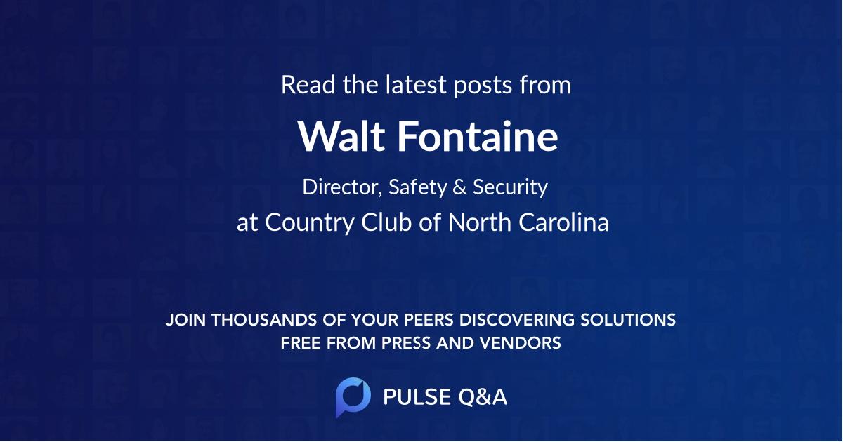 Walt Fontaine