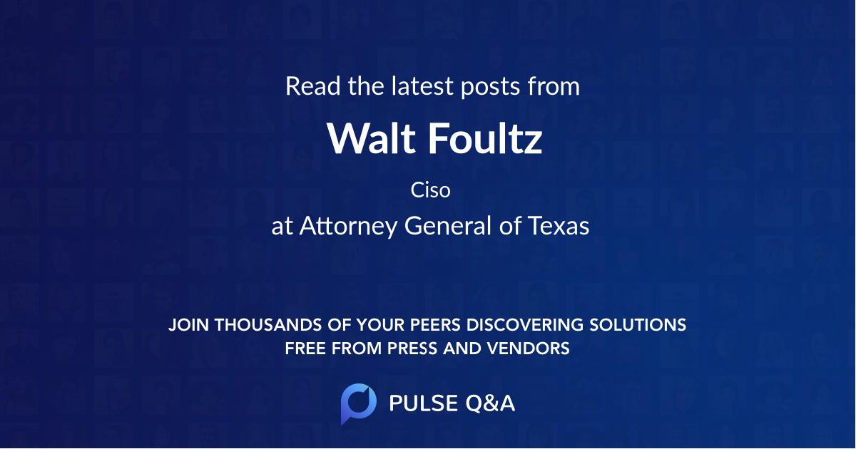 Walt Foultz