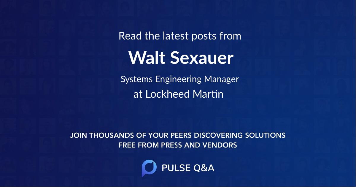 Walt Sexauer