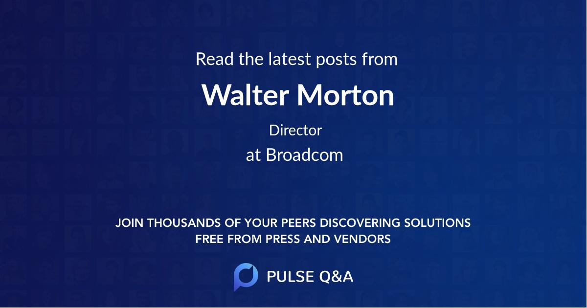 Walter Morton