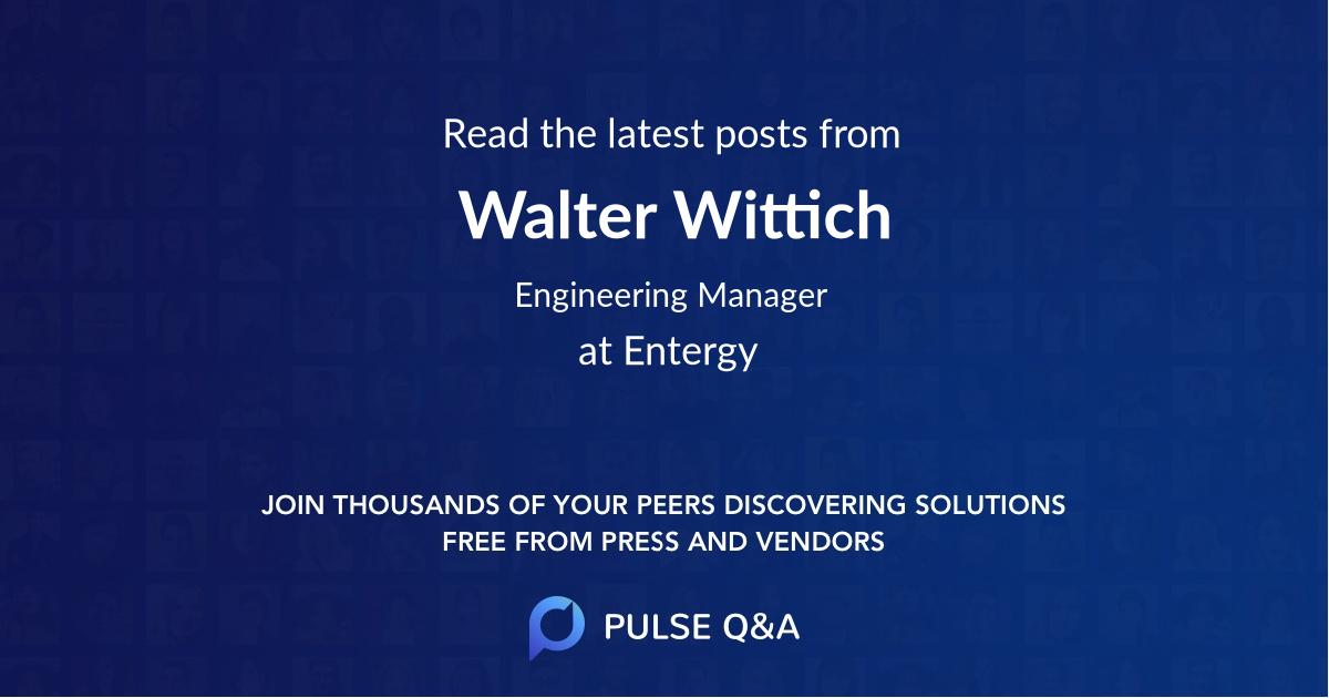 Walter Wittich