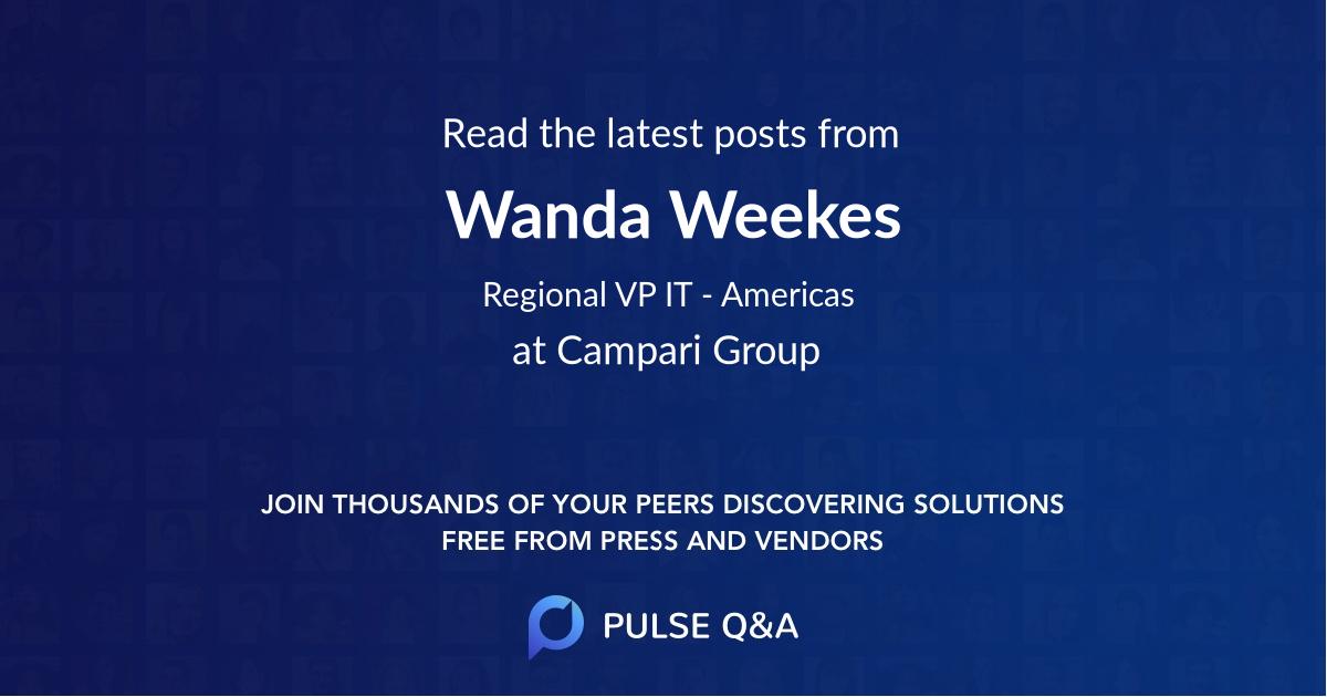 Wanda Weekes