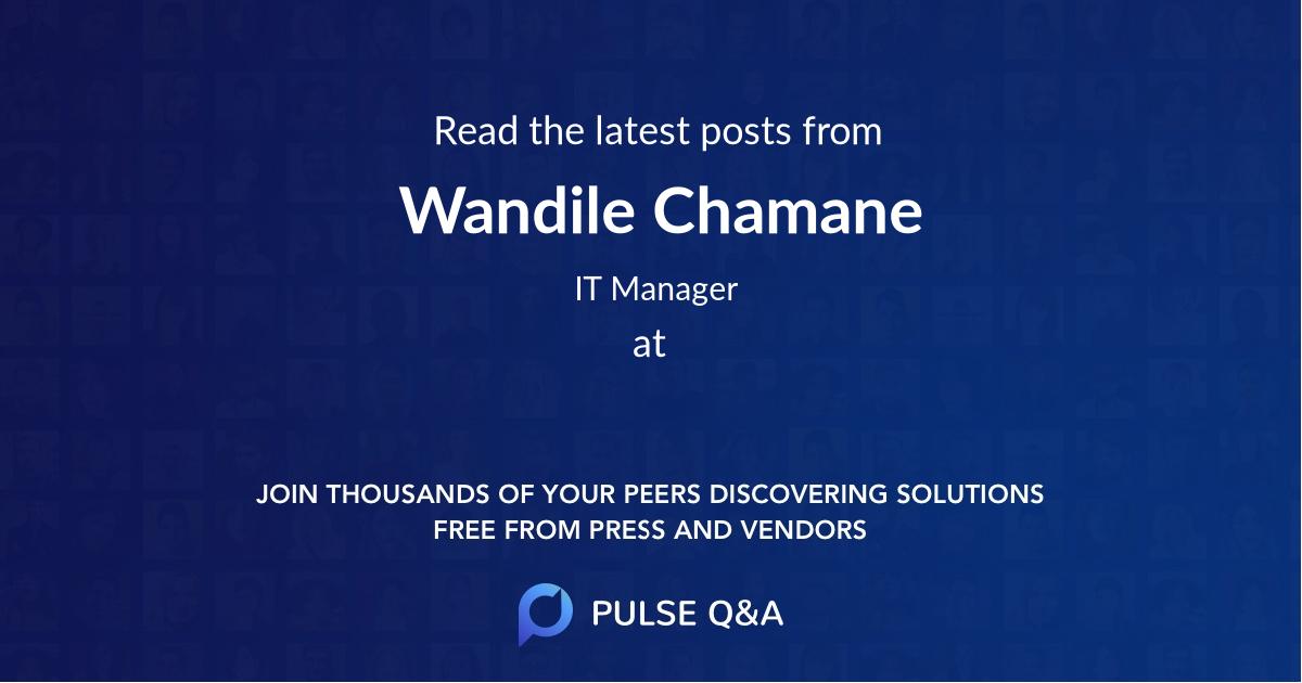 Wandile Chamane