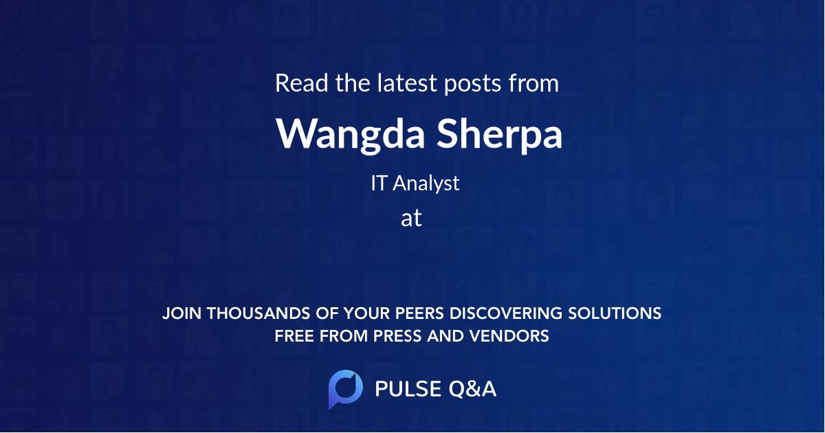 Wangda Sherpa