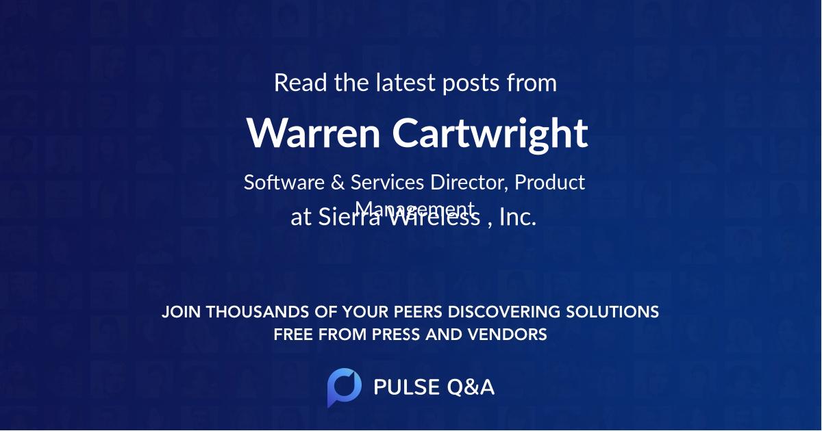 Warren Cartwright