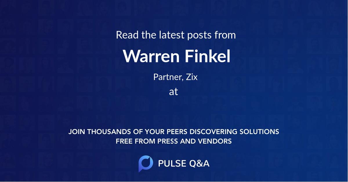 Warren Finkel
