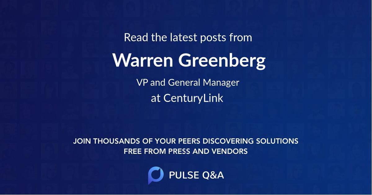 Warren Greenberg