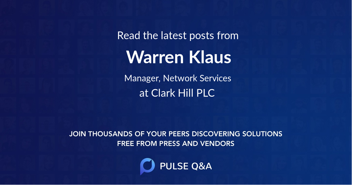Warren Klaus