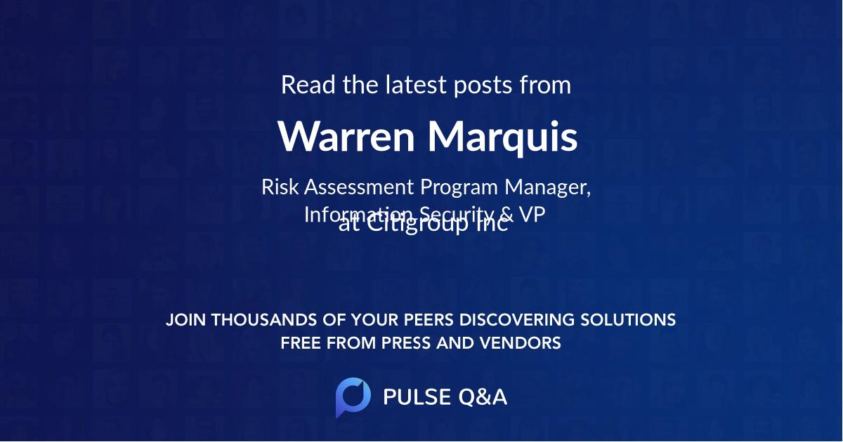 Warren Marquis