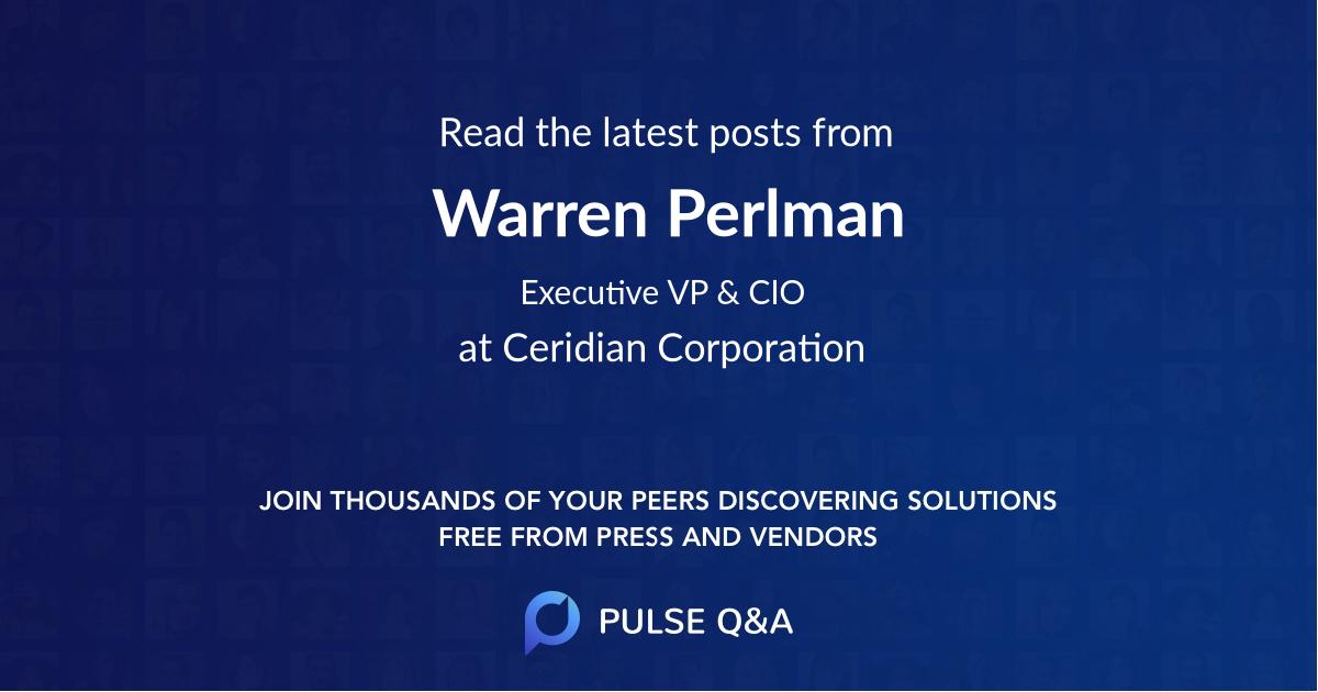 Warren Perlman