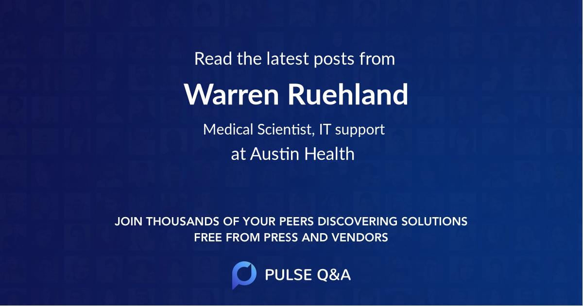 Warren Ruehland