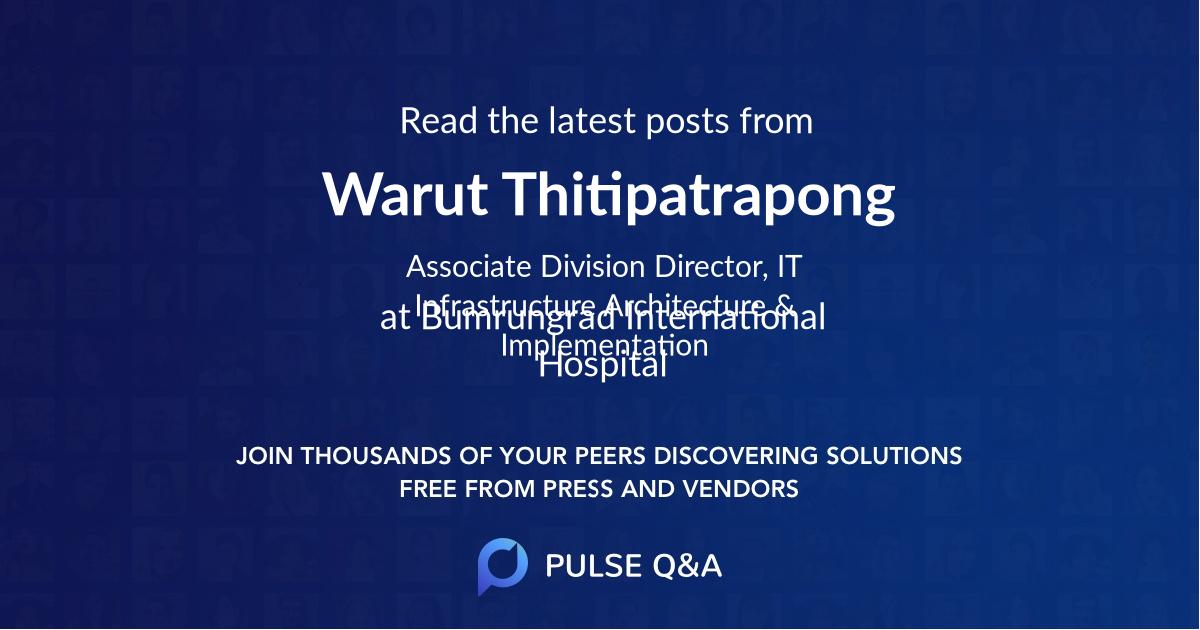 Warut Thitipatrapong
